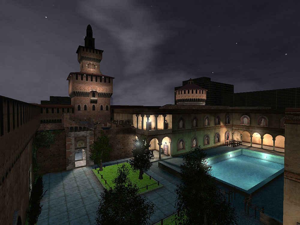 Rainbow Six 3 Raven shield, Athena Sword - Interno Castello Sforzesco