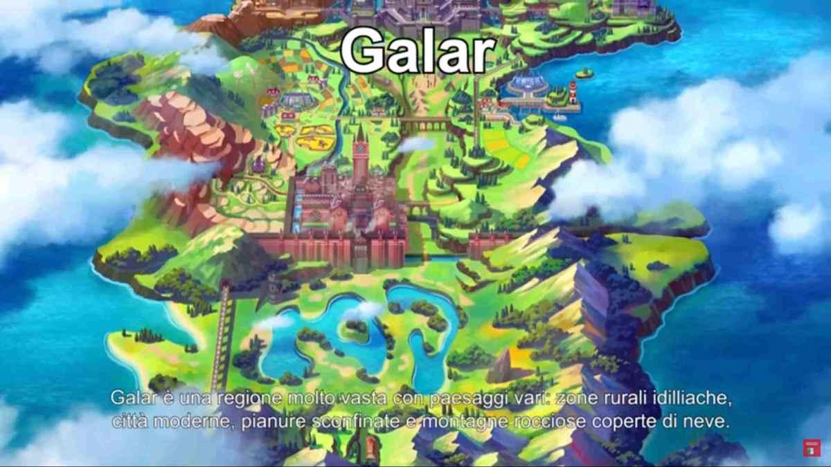 Pokemon Scudo e Spada regione di Galar