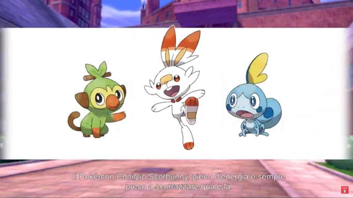 Pokemon Scudo e Spada starter