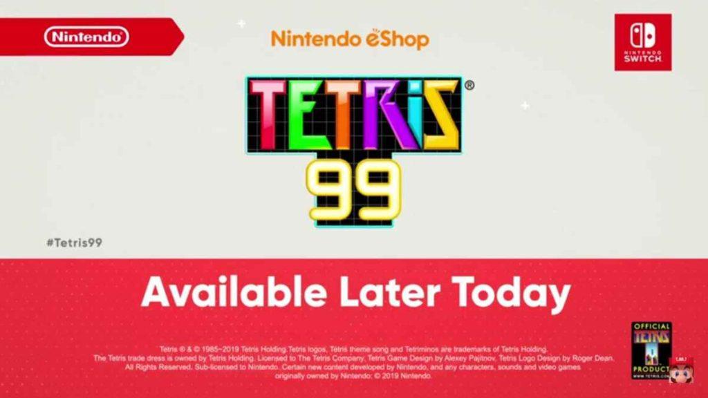 Nintendo Direct Tetris 99