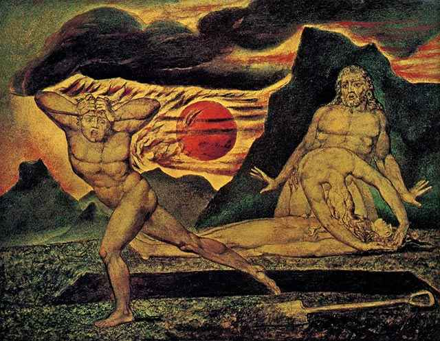 The Body of Abel Found by Adam and Eve - William Blake