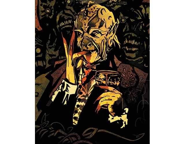 L'aspetto alieno di un vampiro Tzimisce di Vampire: the Masquerade