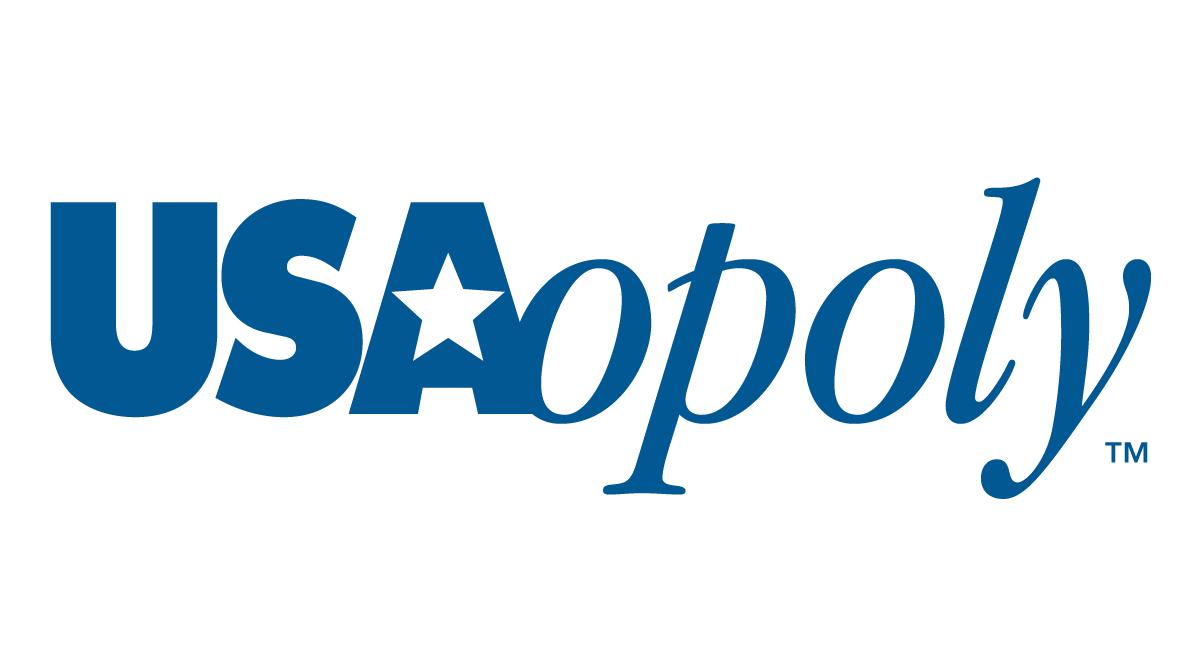 Logo di USAopoly, casa che sviluppa giochi da tavolo a tema videoludico e pop