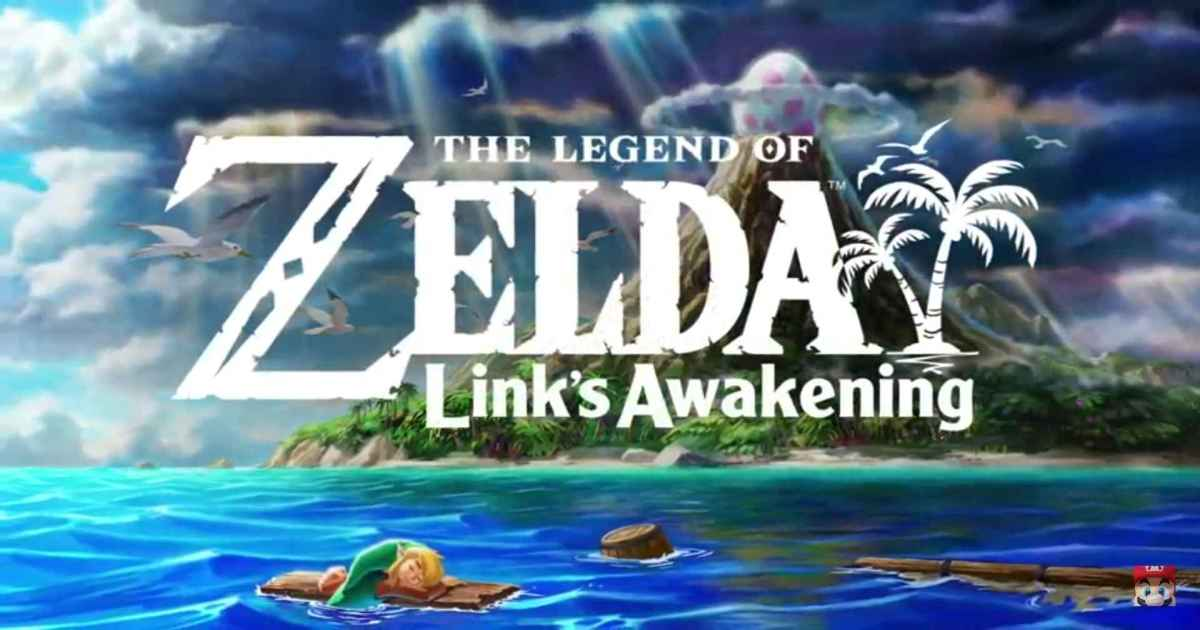 Title card di The Legend of Zelda Link's Awakening