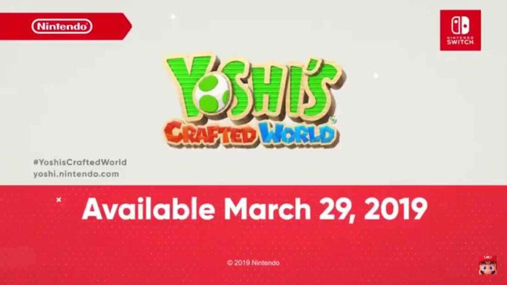 Yoshi Crafted World Nintendo Direct