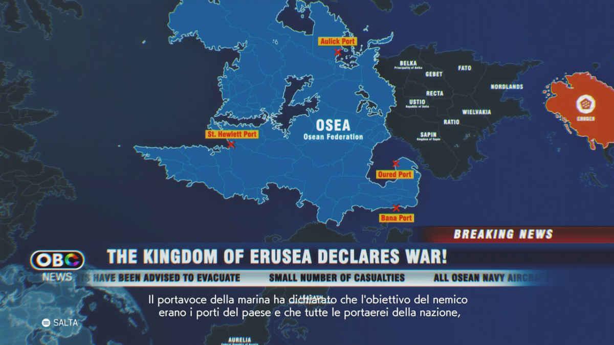 Ace Combat 7 erusea dichiara guerra a Osea