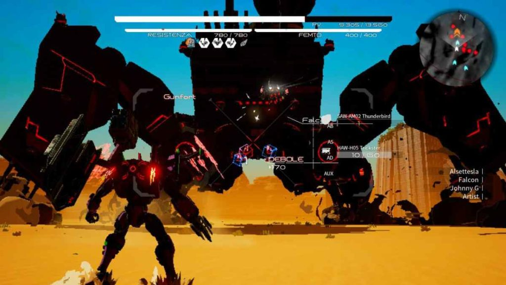 daemon x machina nintendo switch bossfight