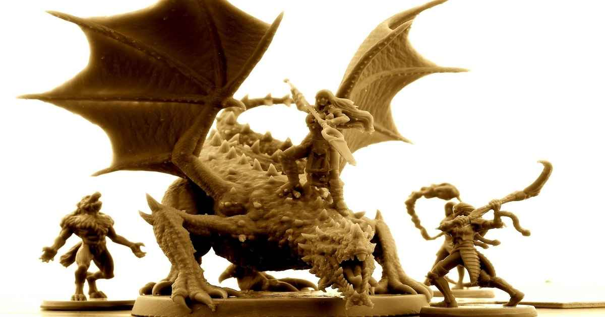 la miniatura del drago del tuono presente in Theosis: Godslayer