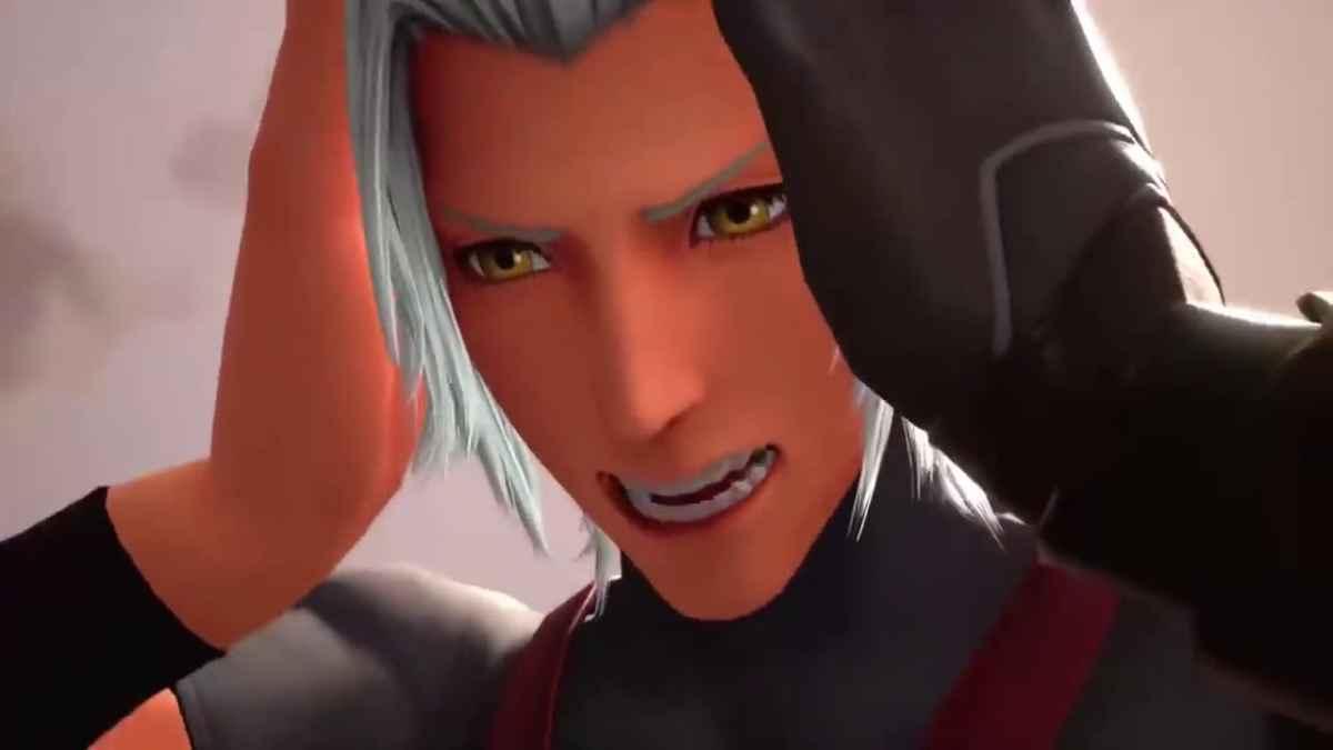 Screenshot tratto da Kingdom Hearts 3 che vede il corpo di Terra ribellarsi al volere di Xehanort