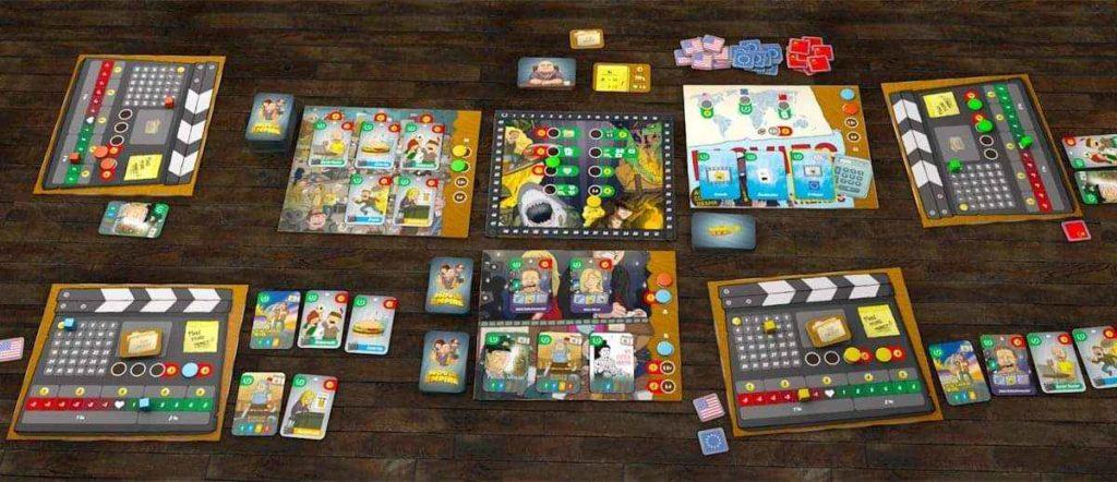 Plancia e materiali del gioco da tavolo Movie Empire