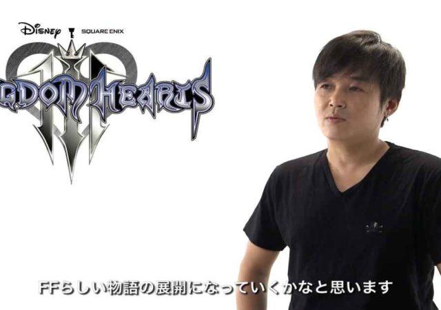 Fotografia di Tetsuya Nomura mentre annuncia il ritiro dallo sviluppo di Final Fantasy XV