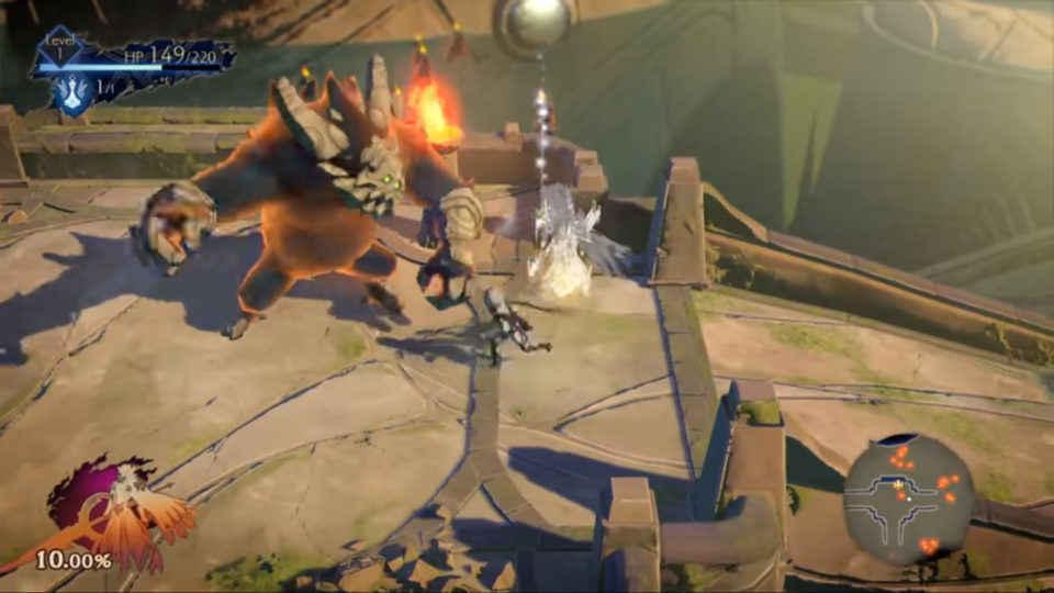 uno screenshot del gameplay di oninaki