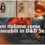 regioni italiane giocabili D&D 5