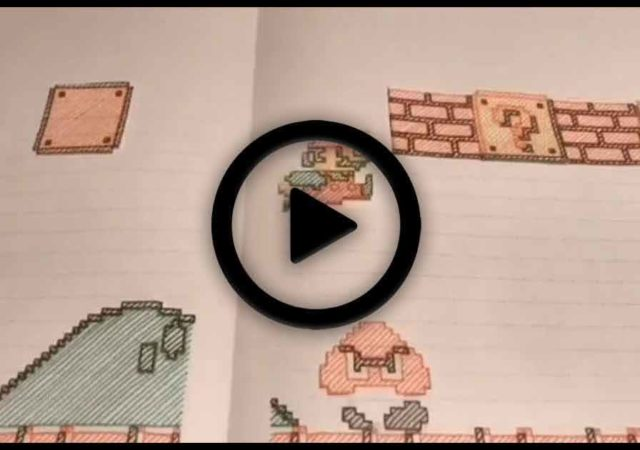 Super Mario Bros ricreato e niamto da un fan con la carta