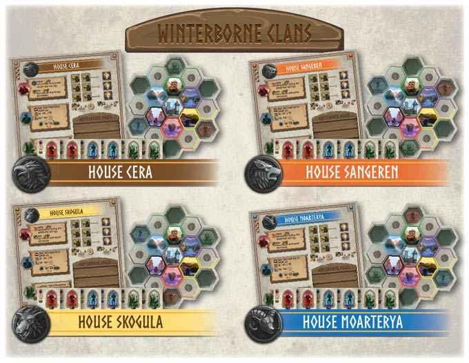 Winterborne, il gioco da tavolo in cui crescere il tuo clan e sopravvivere all'inverno
