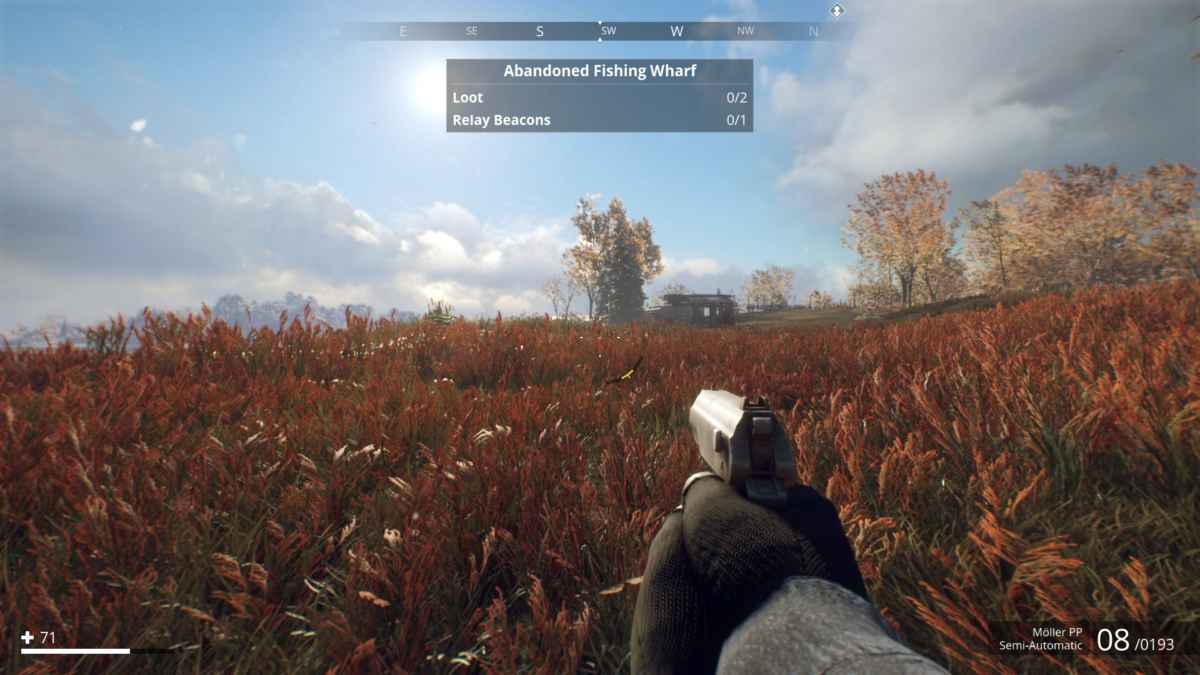 Screenshot da Generation Zero che raffigura una tundra svedese