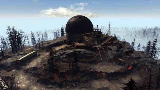 L'insediamento di Acadia come appare nel DLC Far Harbor di Fallout 4