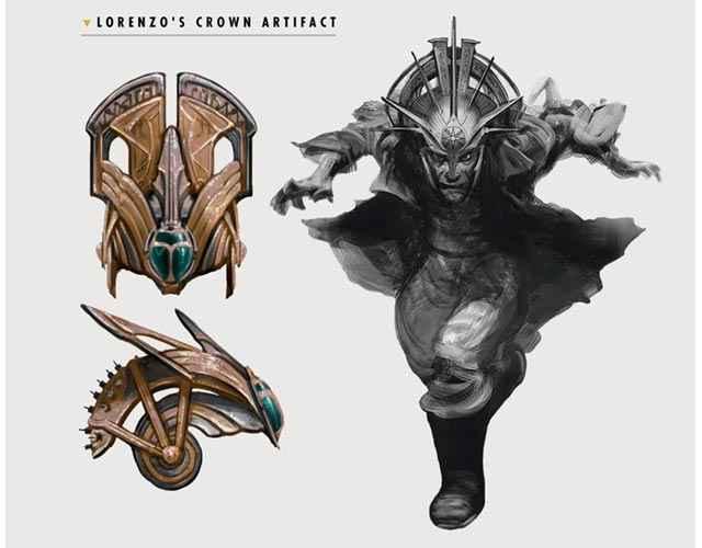 Concept art della Corona di Lorenzo Cabot, introdotta in Fallout 4