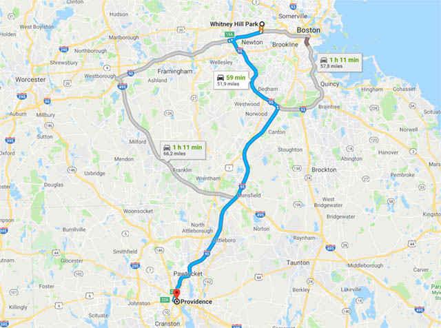 La distanza tra la posizione del Vault 111 e la Providence in cui è nato e vissuto H.P. Lovecraft