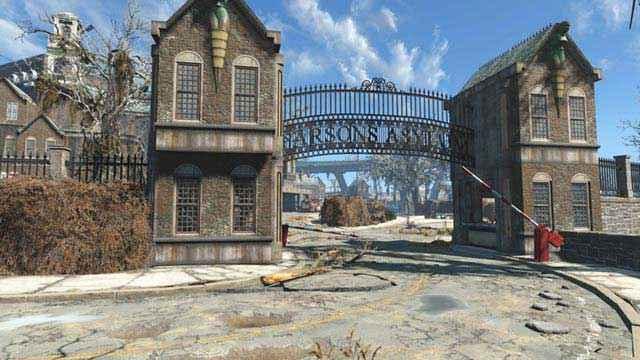 I cancelli del Parsons State Insane Asylum di Fallout 4
