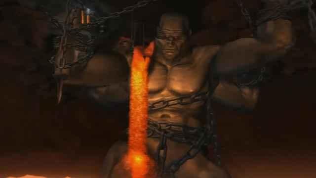 Il Titano Atlante in God of War 2