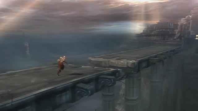 Il ponte sul Grande Abisso in God of War 2