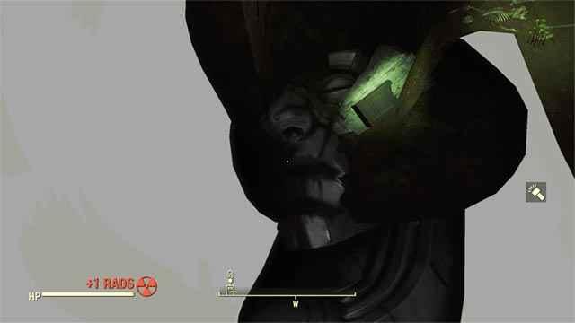 Il viso della statua sotto Dunwich Borers