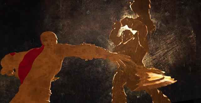 Lo scontro fra Kratos e il re barbaro Alrik, proprio all'inizio della saga di God of War