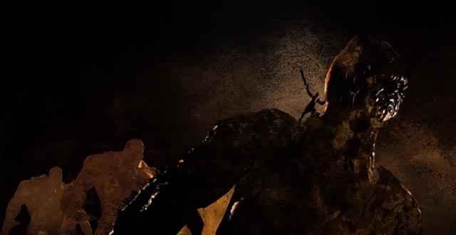 Kratos scala il Monte Olimpo con l'aiuto del Titano Gaia / Gea