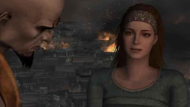 Kratos e Lysandra in God of War 2