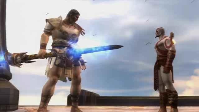 Lo scontro fra Kratos e Teseo in God of War 2