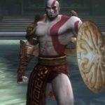 Kratos imbraccia lo scudo di Perseo