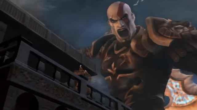 Kratos in versione gigante durante l'Assedio di Rodi
