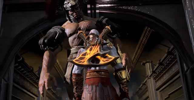 Kratos incontra il fratellastro Eracle in God of War 3