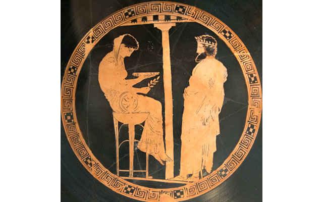 L'Oracolo di Delfi nell'arte greca