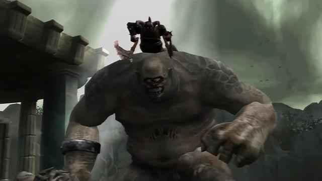 La mount ciclope in God of War 2