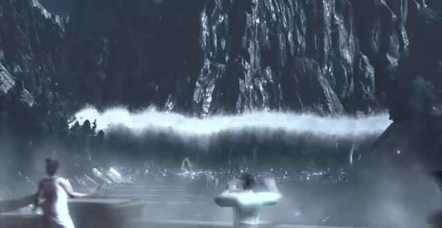 La morte di Poseidone causa il Diluvio Universale, in pratica