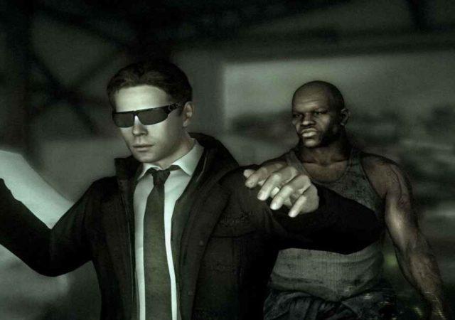 Screenshot da Heavy Rain che raffigura uno dei protagonisti venir attaccato da un criminale