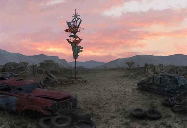 Il desolato deserto del Mojave in cui è ambientato Fallout: New Vegas