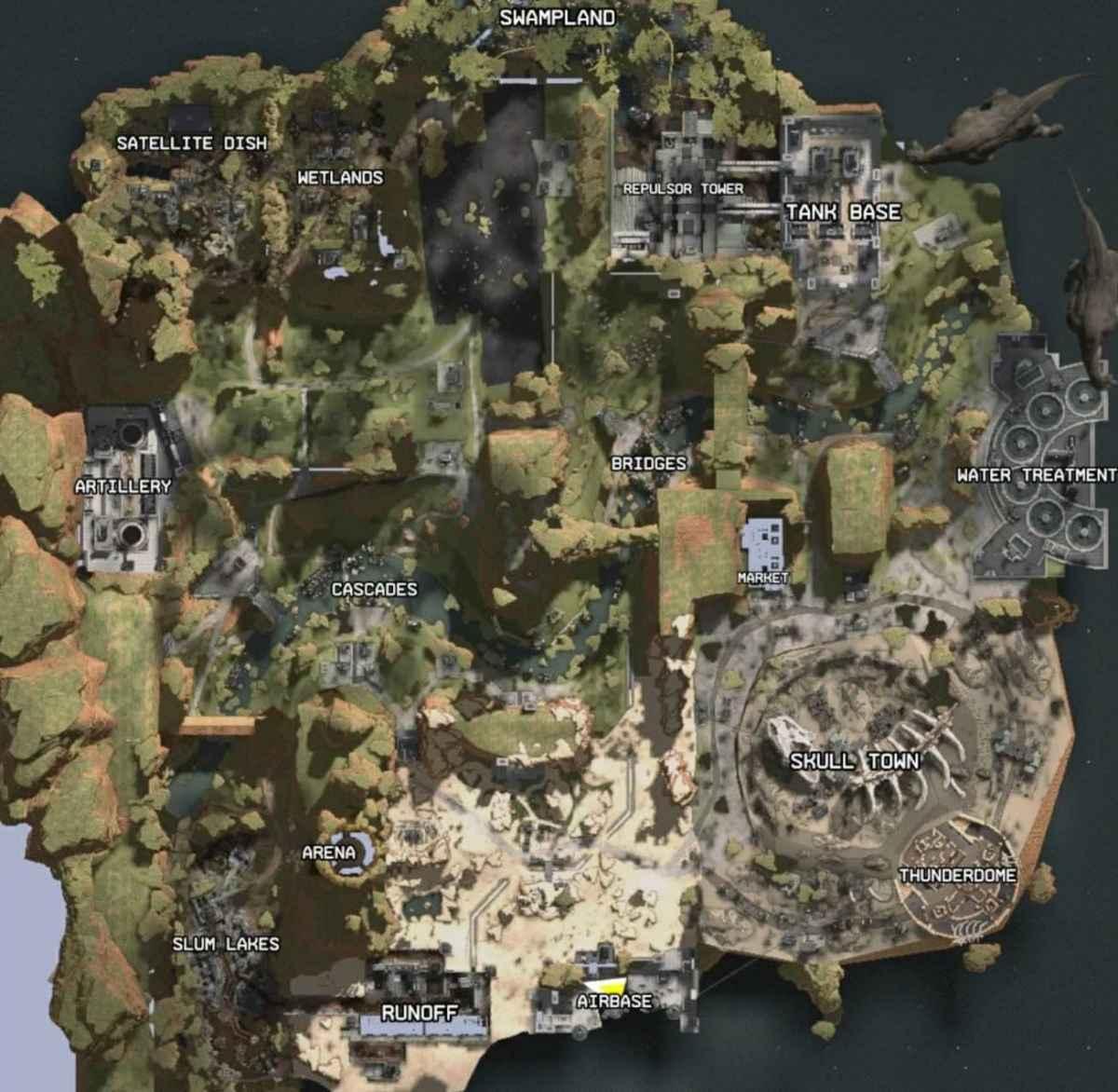 Immagine che raffigura una proto-mappa di Apex Legends, leakata ad Aprile 2018