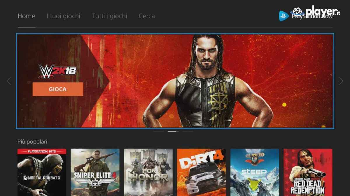 PlayStation Now i titoli disponibili