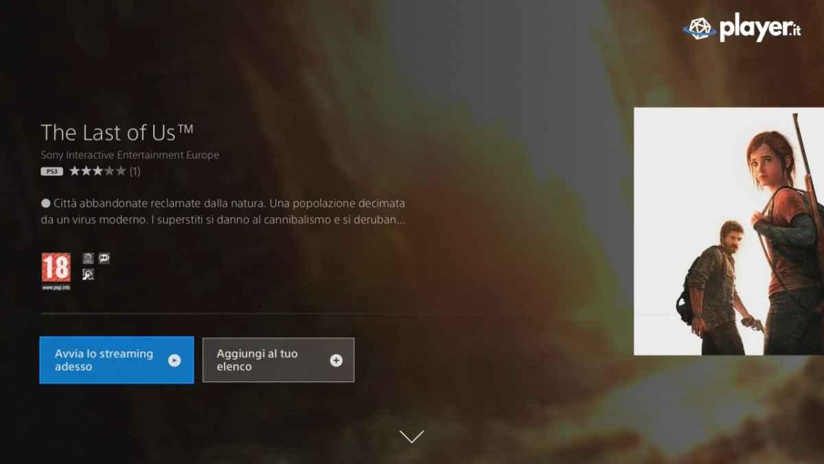 PlayStation Now Avviare un gioco