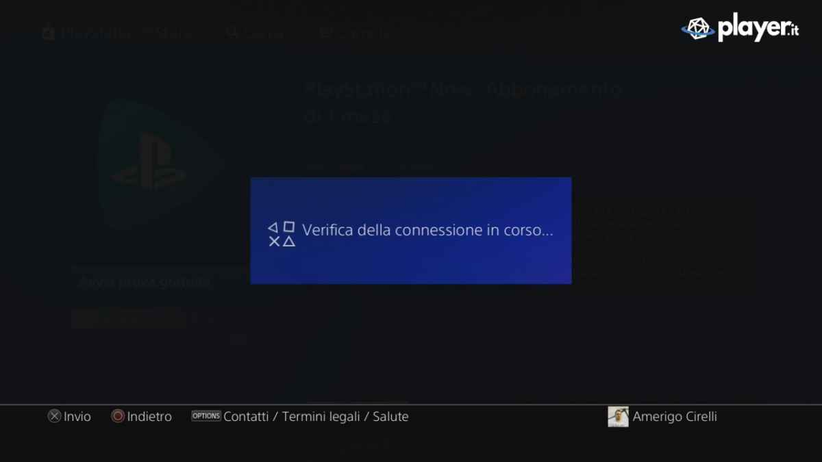 Verifica della qualità della connessione PlayStation Now