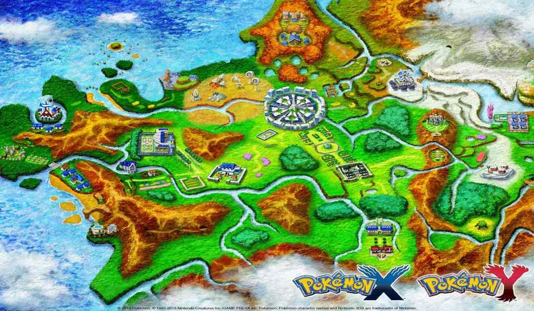 Mappa di Kalos, regione di Pokémon X&Y