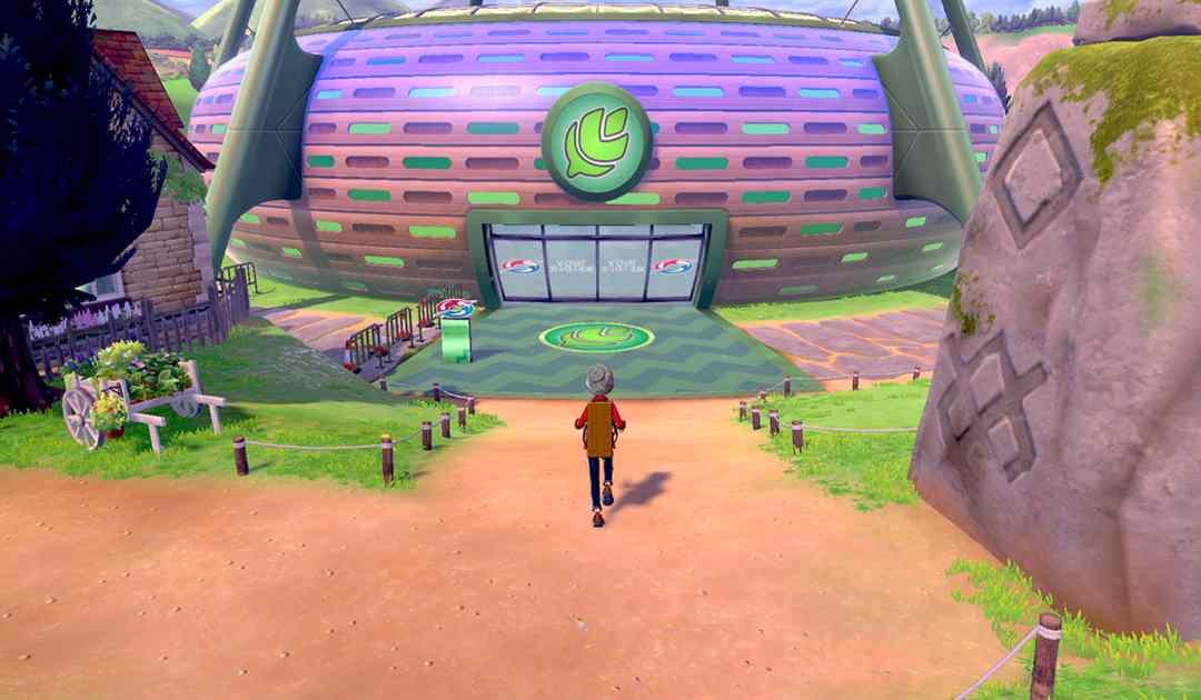 Screenshot di quella che sembra una palestra nel trailer di Pokémon Spada&Scudo
