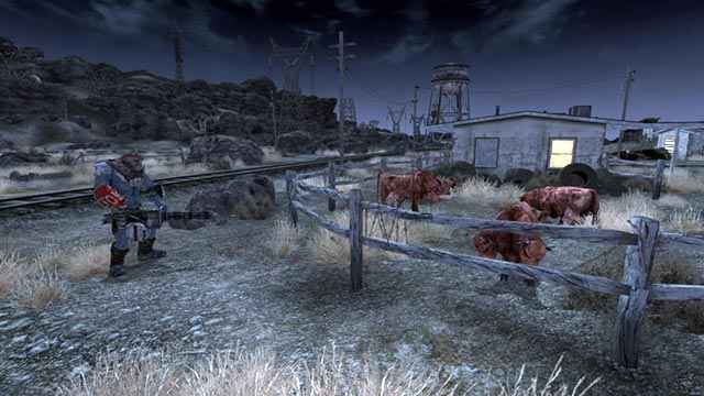 L'attacco al bestiame da parte del Nightking della quest The Screams of the Brahmin in Fallout New Vegas