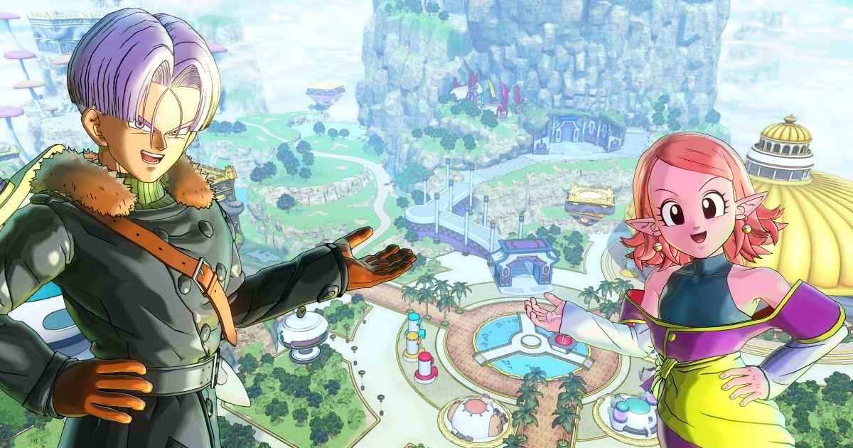 Presentazione di Toki Toki City da parte di Trunks e Kuronoa