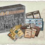 la scatola di age of civilization con i componenti e le indicazioni dei dati per i giocatori
