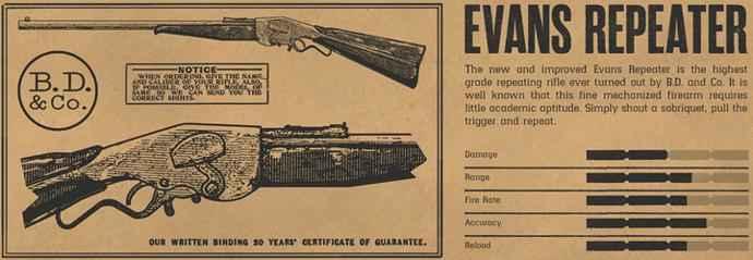 red dead online fucile evans a ripetizione