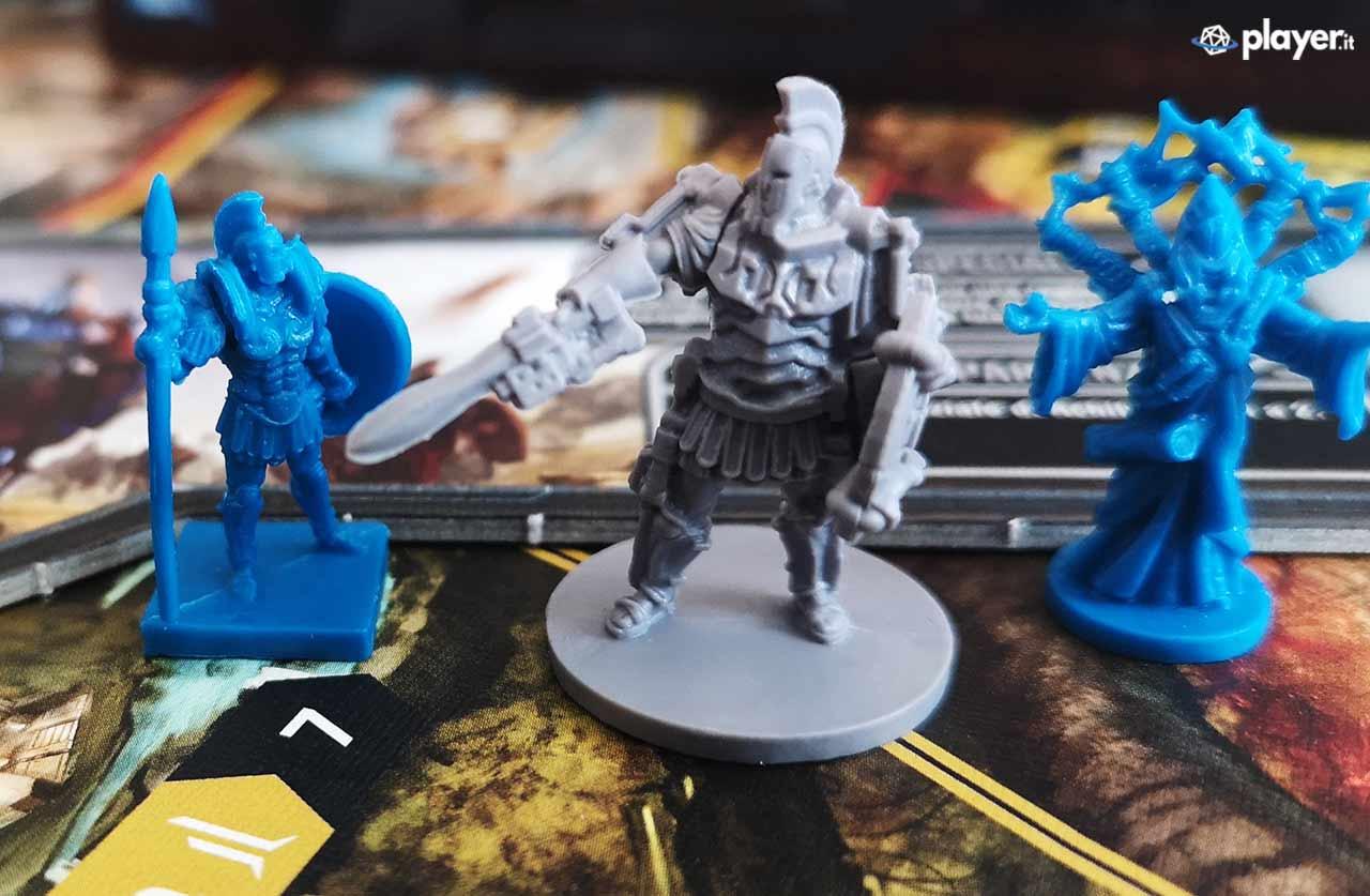 lord of hellas gioco da tavolo miniature piccole blu